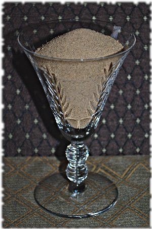 sand in a glass